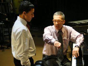Earl MacDonald, teaching a jazz piano lesson.